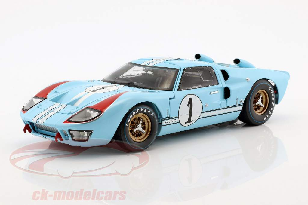 Ford GT40 MK II #1 2nd 24h LeMans 1966 Miles, Hulme 1:18 ShelbyCollectibles
