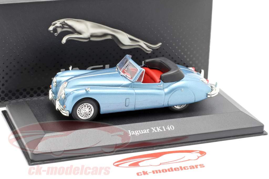 Jaguar XK140 Roadster año de construcción 1957 azul claro metálico 1:43 Atlas