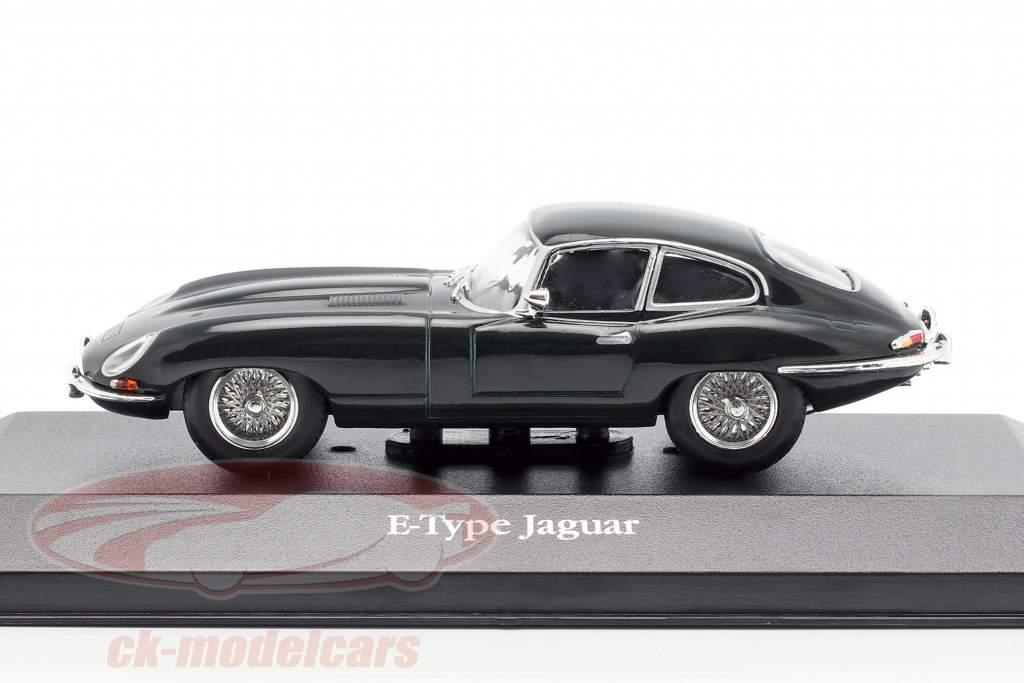 Jaguar E-Type coupe año de construcción 1961 británico carreras verde 1:43 Atlas