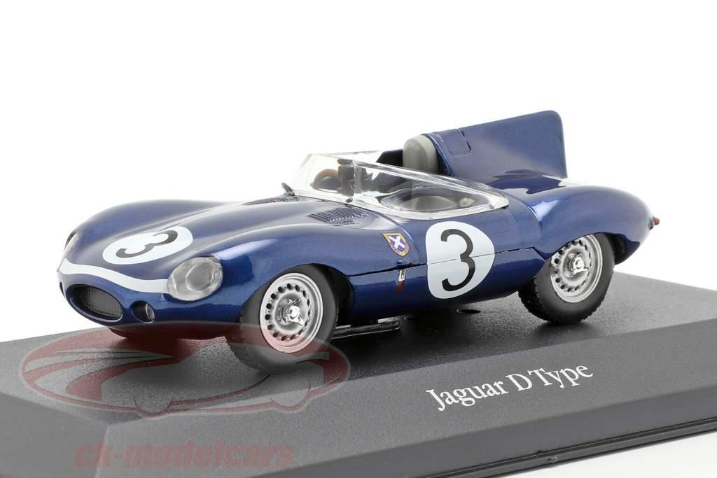 Jaguar D type #3 Winner 24h LeMans 1957 Flockhart, Bueb 1:43 Atlas
