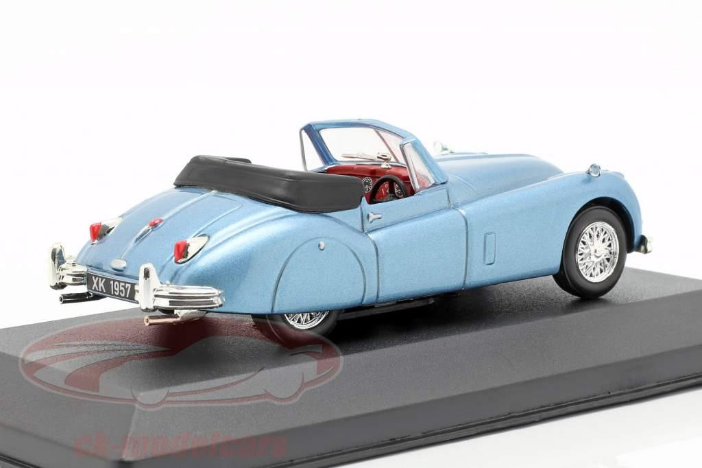 Jaguar XK140 roadster année de construction 1957 bleu clair métallique 1:43 Atlas
