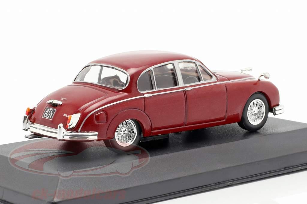 Jaguar MK II year 1960 dark red 1:43 Atlas