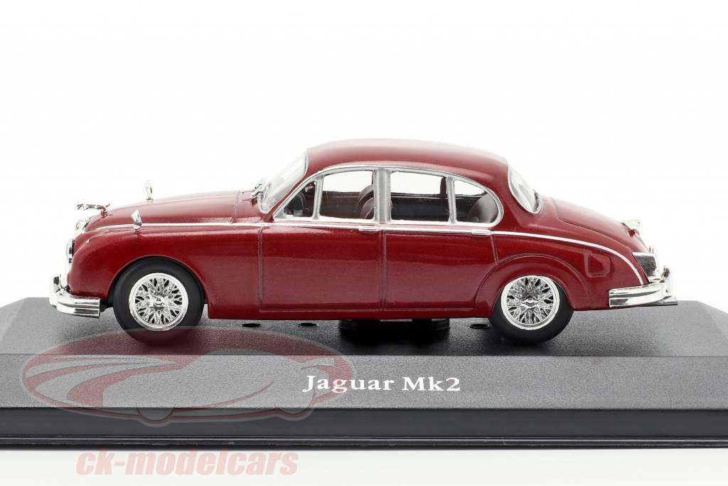 Jaguar MK II año de construcción 1960 oscuro rojo 1:43 Atlas