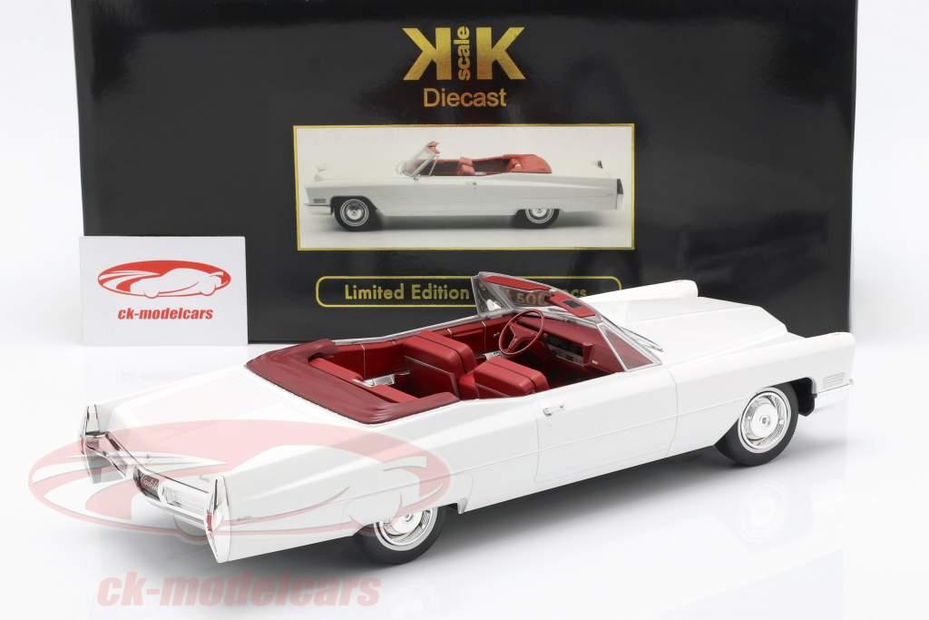 Cadillac DeVille converteerbaar Bouwjaar 1968 wit 1:18 KK-Scale
