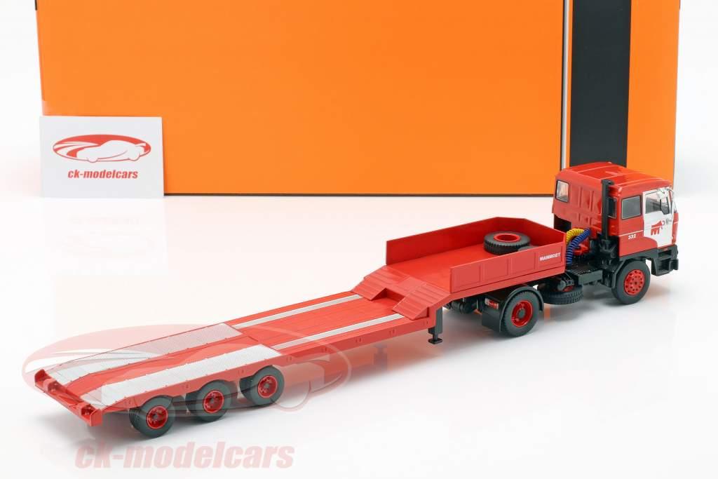 DAF 2800 Low-boy Trailer Mammoet anno di costruzione 1978 rosso 1:43 Ixo