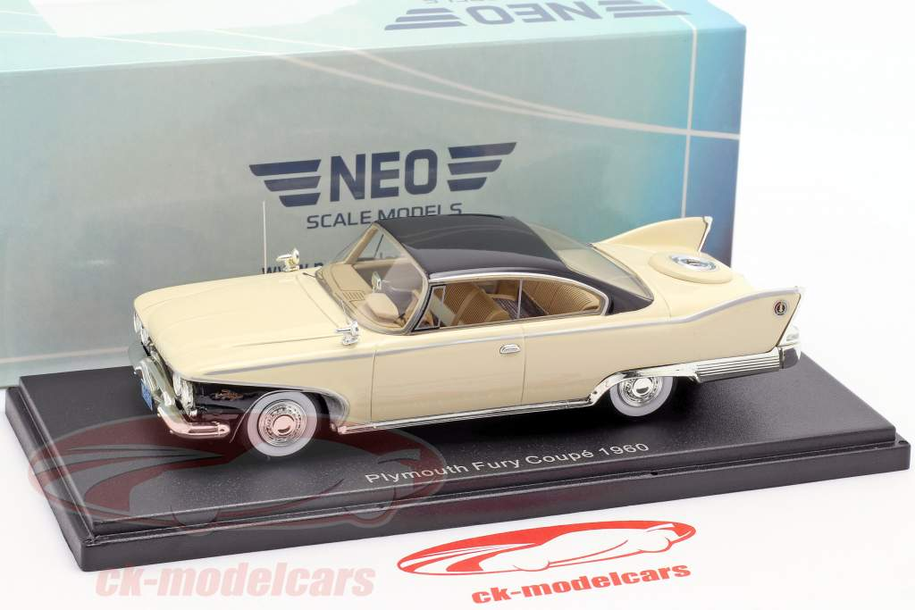 Plymouth Fury Coupe Opførselsår 1960 lys beige 1:43 Neo