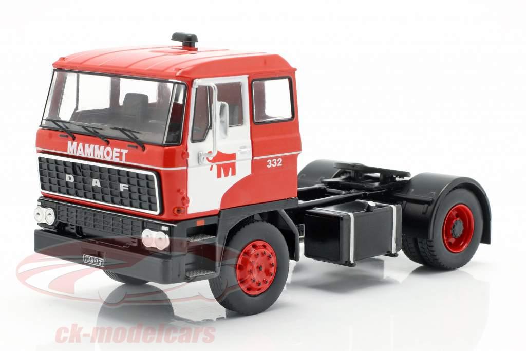 DAF 2800 Low-boy Trailer Mammoet year 1978 red 1:43 Ixo