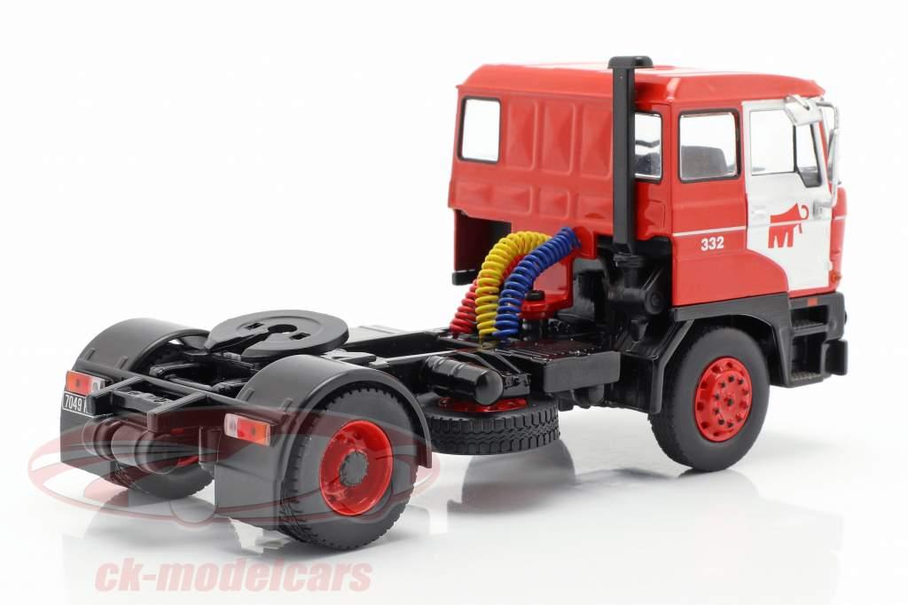 DAF 2800 Low-boy Trailer Mammoet Bouwjaar 1978 rood 1:43 Ixo