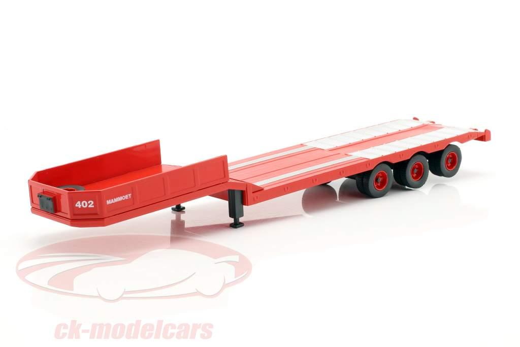 DAF 2800 Low-boy Trailer Mammoet année de construction 1978 rouge 1:43 Ixo