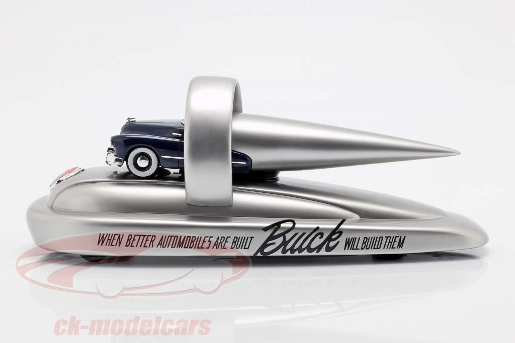 Buick Float Opførselsår 1946 mørkeblå / sølv 1:43 AutoCult