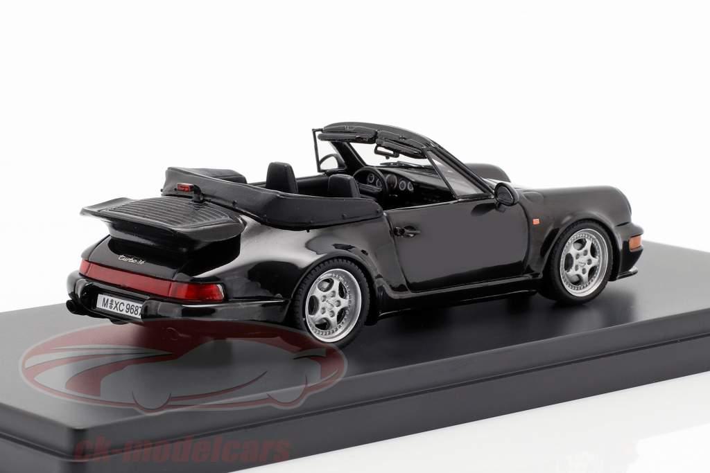 Porsche 911 (964) Turbo Cabriolet Opførselsår 1993 sort 1:43 AutoCult