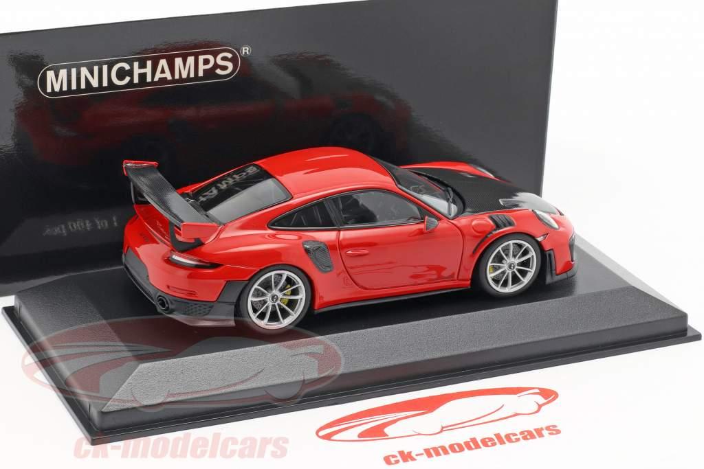 Porsche 911 (991 II) GT2 RS Baujahr 2018 indischrot 1:43 Minichamps