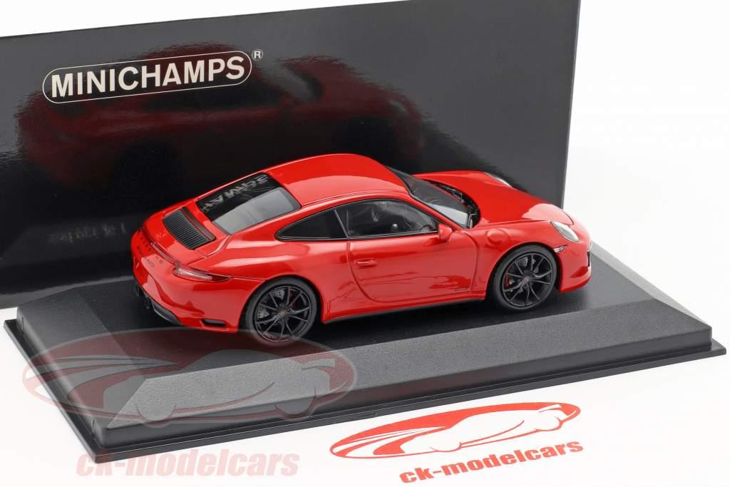 Porsche 911 (991 II) Carrera 4 GTS año de construcción 2017 guardias rojo 1:43 Minichamps