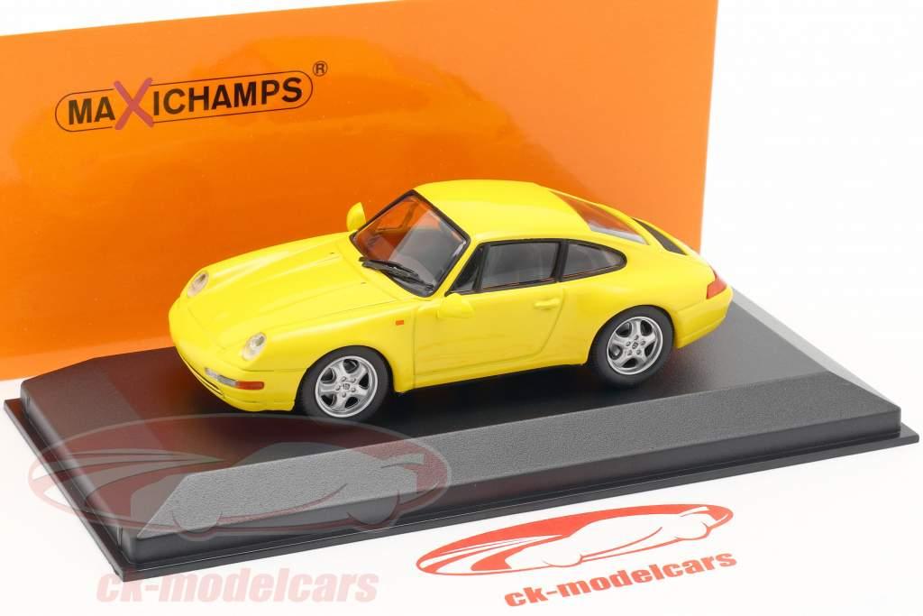 Porsche 911 (993) Bouwjaar 1993 gelb 1:43 Minichamps