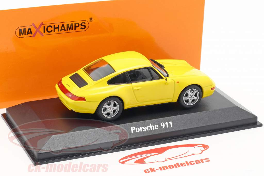 Porsche 911 (993) année de construction 1993 gelb 1:43 Minichamps