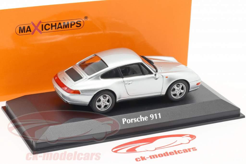 Porsche 911 (993) Bouwjaar 1993 zilver 1:43 Minichamps
