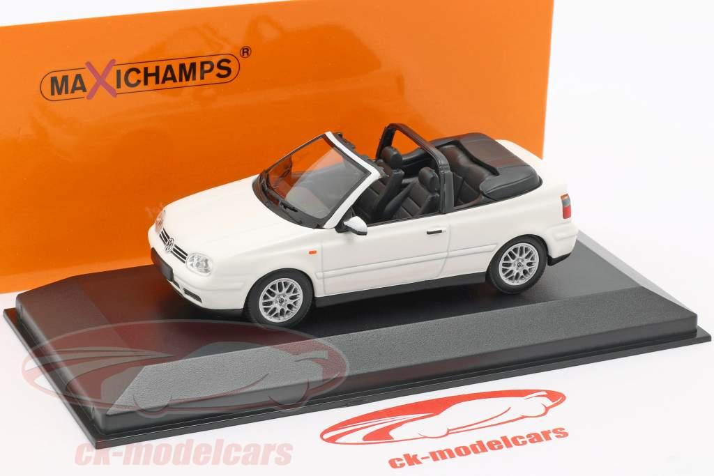 Volkswagen VW Golf IV Cabriolet Bouwjaar 1998 wit 1:43 Minichamps