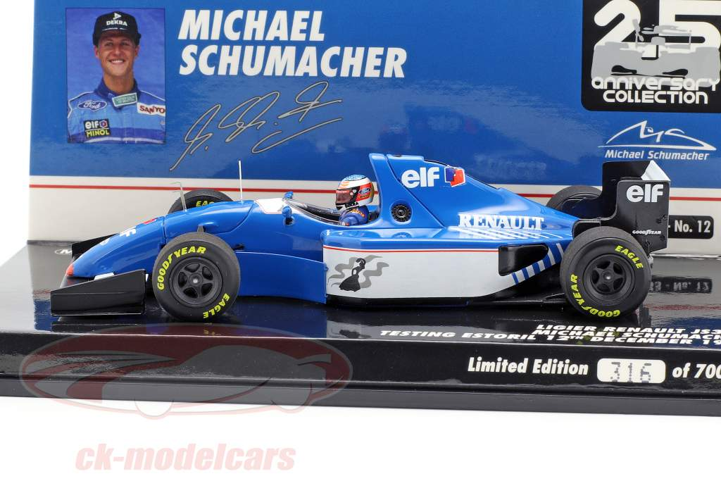 Michael Schumacher Ligier JS39B test Estoril formula 1 1994 1:43 Minichamps