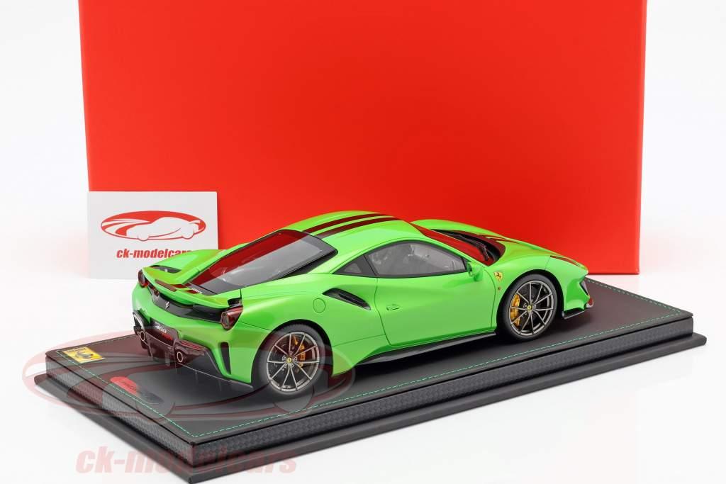 Ferrari 488 Pista year 2018 green metallic 1:18 BBR