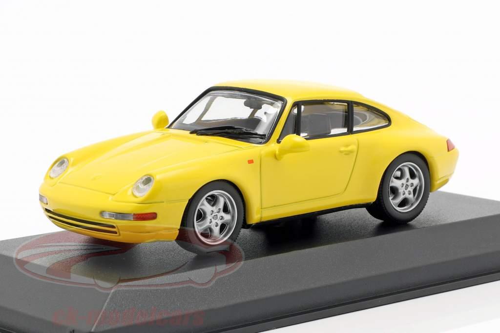 993 Porsche 911 Baujahr 1993 silber 1:43 Minichamps