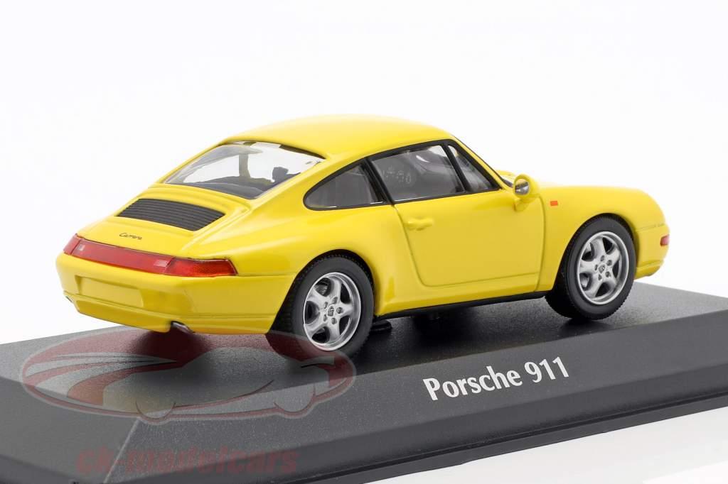 Porsche 911 (993) ano de construção 1993 gelb 1:43 Minichamps