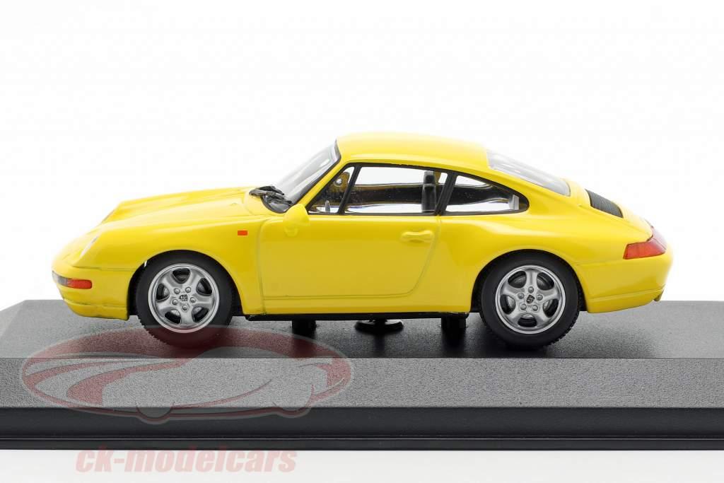 Porsche 911 (993) año de construcción 1993 gelb 1:43 Minichamps