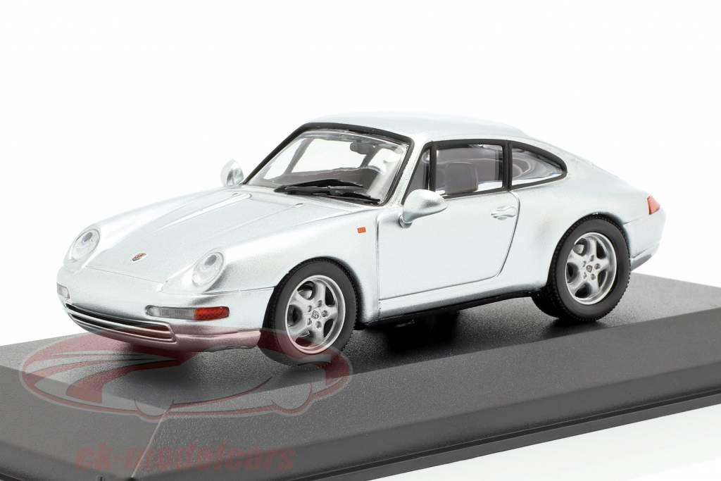 Porsche 911 (993) año de construcción 1993 plata 1:43 Minichamps