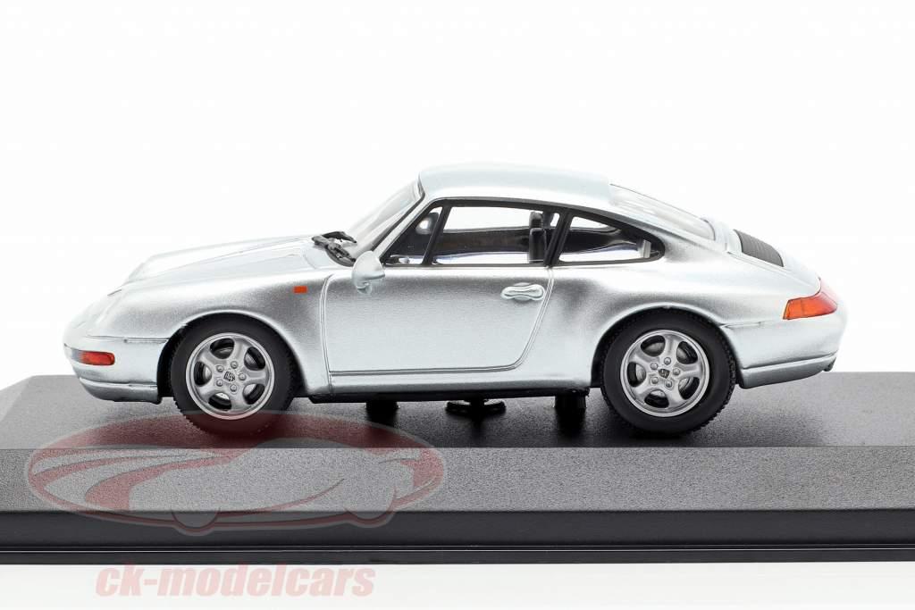Porsche 911 (993) year 1993 silver 1:43 Minichamps