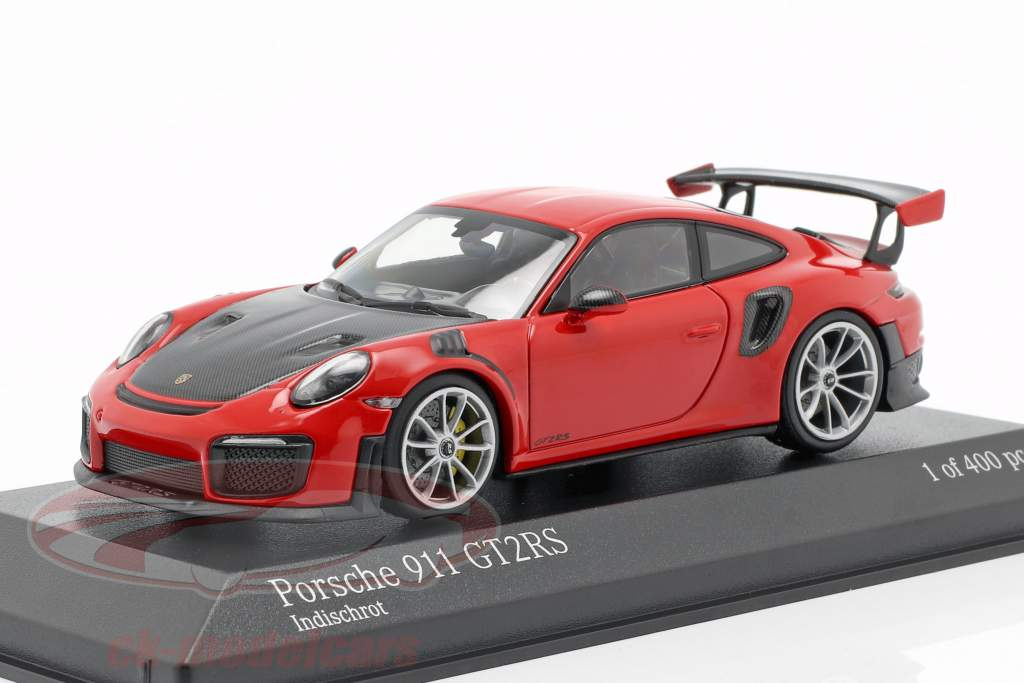 Porsche 911 (991 II) GT2 RS Opførselsår 2018 vagter rød 1:43 Minichamps