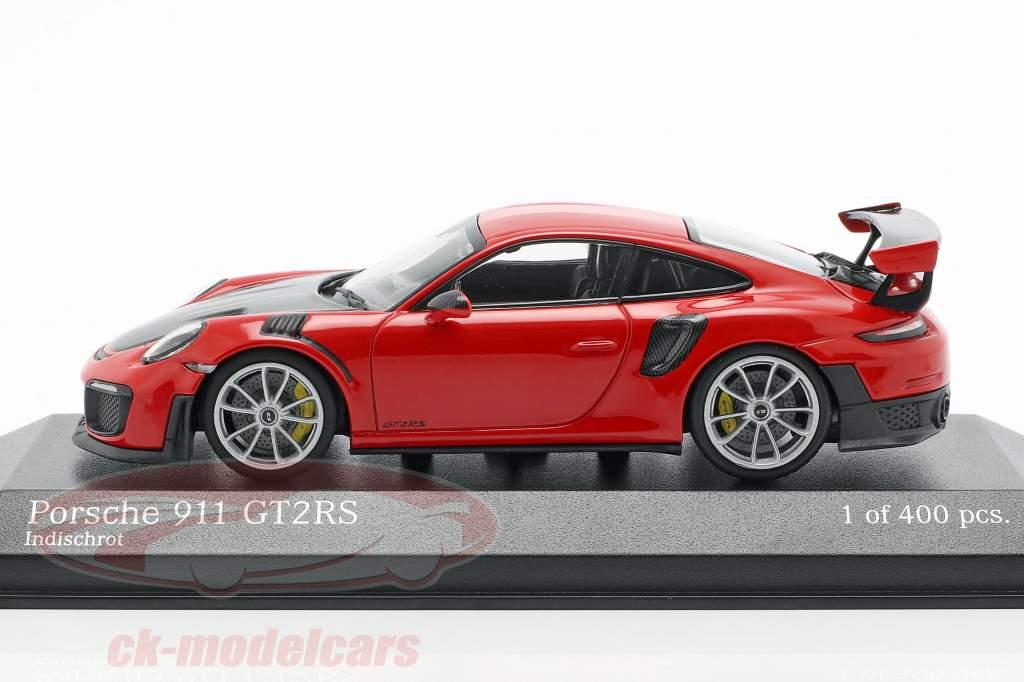 Porsche 911 (991 II) GT2 RS Bouwjaar 2018 bewakers rood 1:43 Minichamps