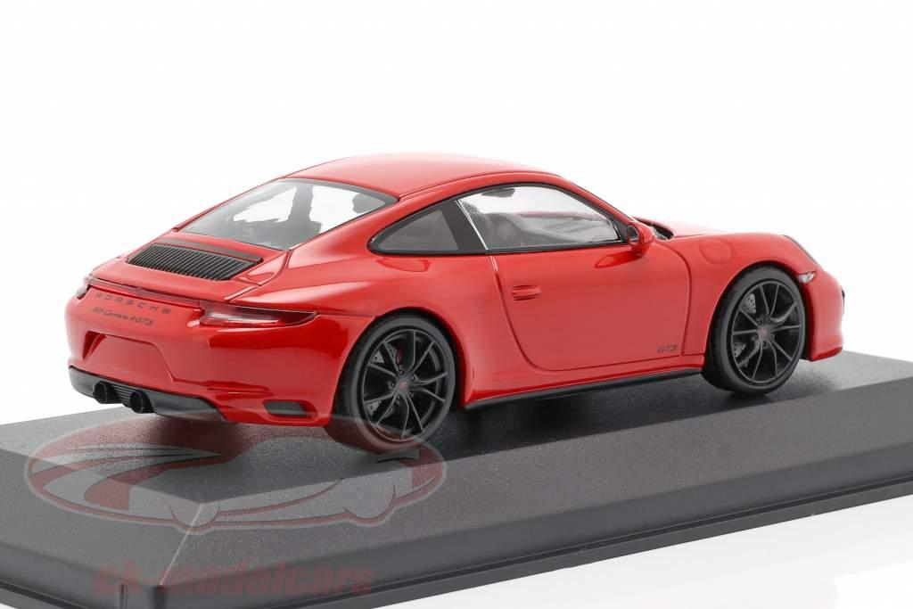 Porsche 911 (991 II) Carrera 4 GTS Bouwjaar 2017 bewakers rood 1:43 Minichamps