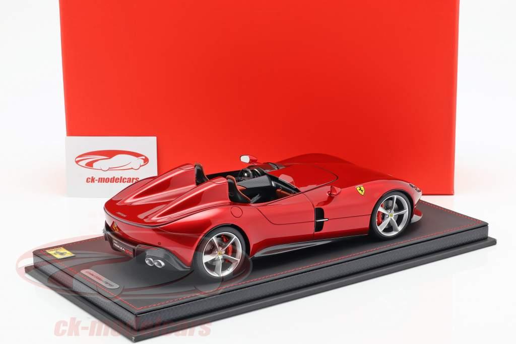 Ferrari Monza SP2 Opførselsår 2018 portofino rød metallisk 1:18 BBR