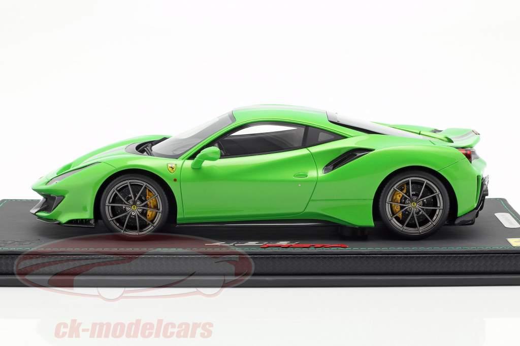 Ferrari 488 Pista año de construcción 2018 verde metálico 1:18 BBR