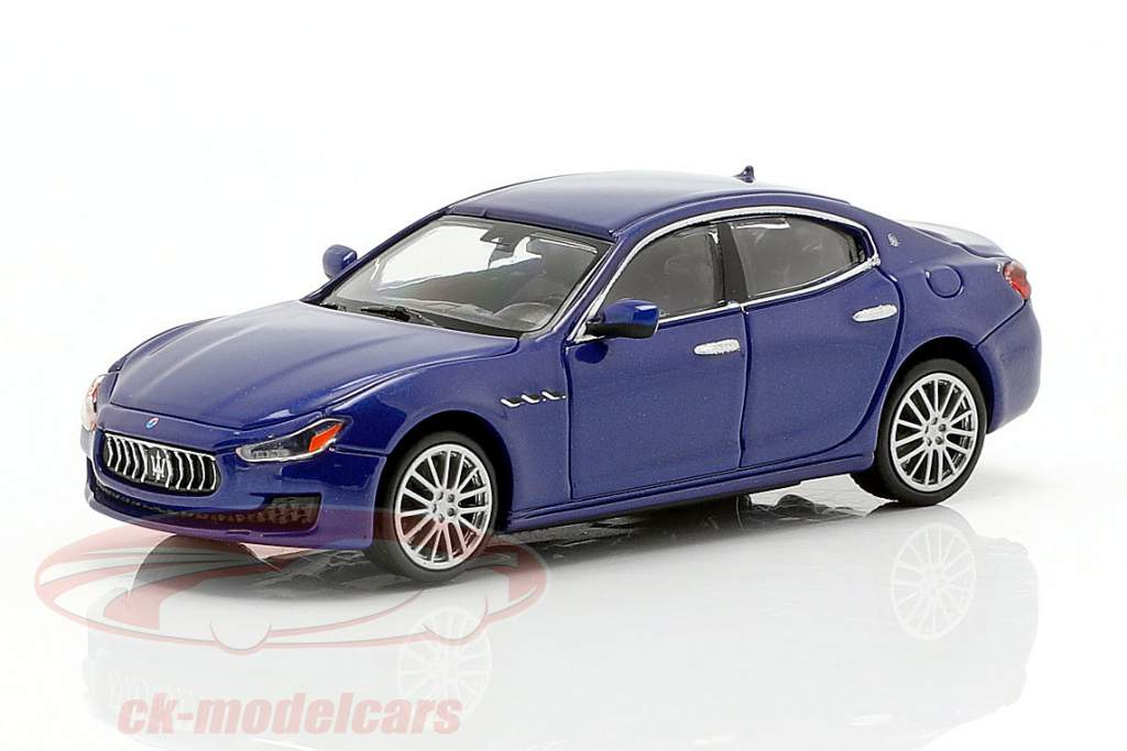 Maserati Ghibli year 2018 dark blue metallic 1:87 Minichamps