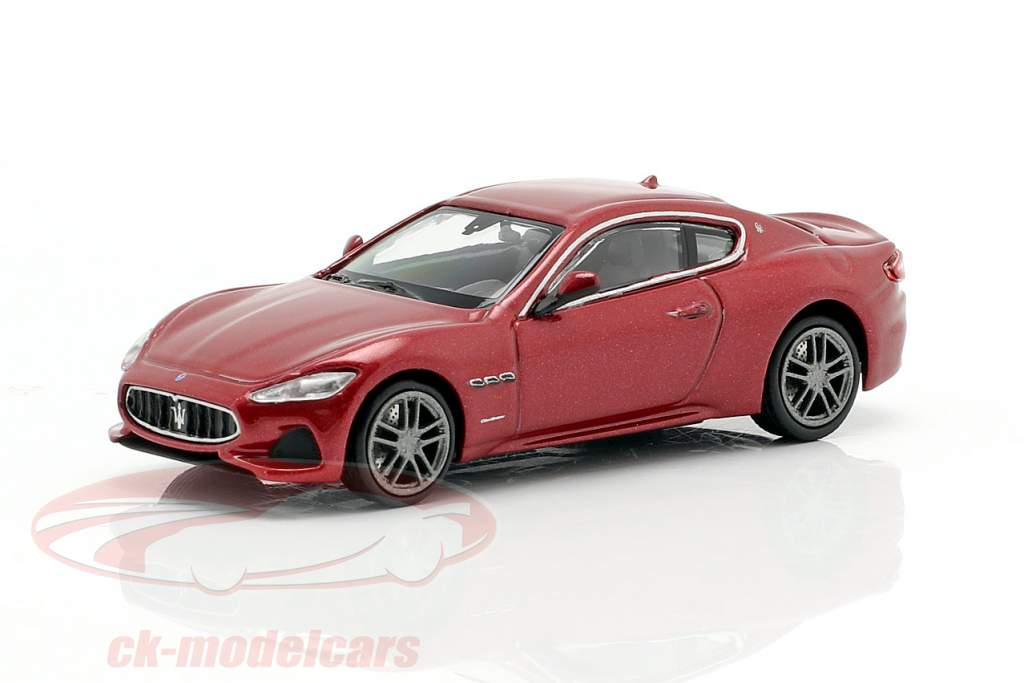 Maserati Granturismo year 2018 red metallic 1:87 Minichamps