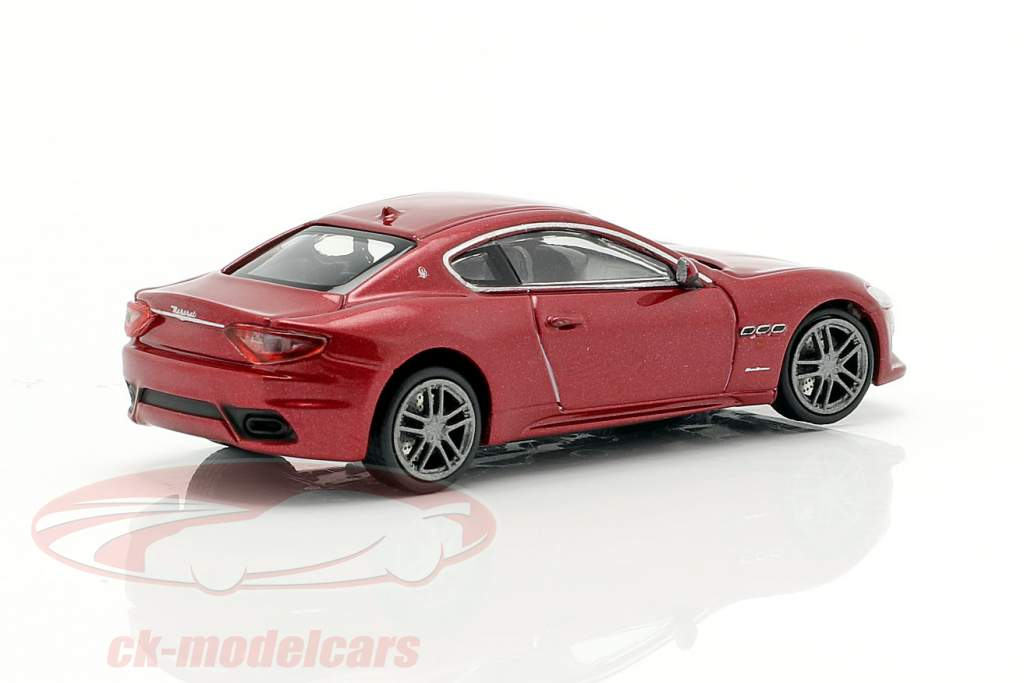 Maserati Granturismo Bouwjaar 2018 rood metalen 1:87 Minichamps