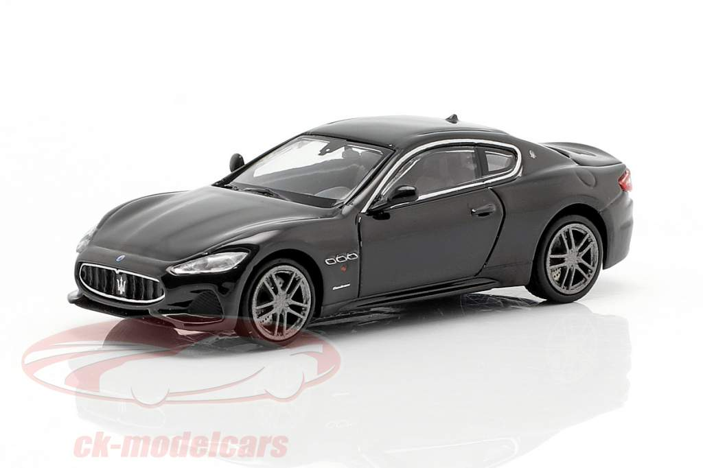 Maserati Granturismo Bouwjaar 2018 zwart 1:87 Minichamps
