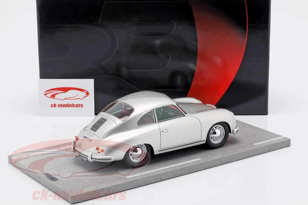 Porsche 356A Bouwjaar 1955 zilver metalen 1:18 BBR