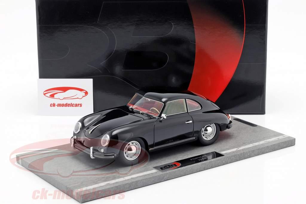Porsche 356A Bouwjaar 1955 zwart 1:18 BBR