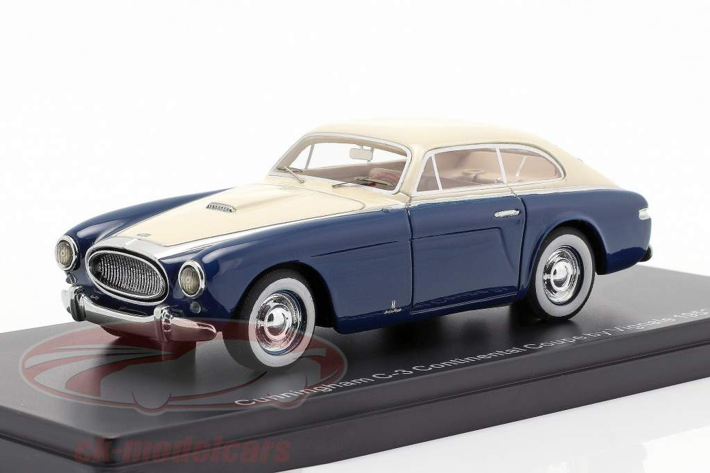 Cunningham C3 Continental Coupe year 1952 blue / white 1:43 Neo