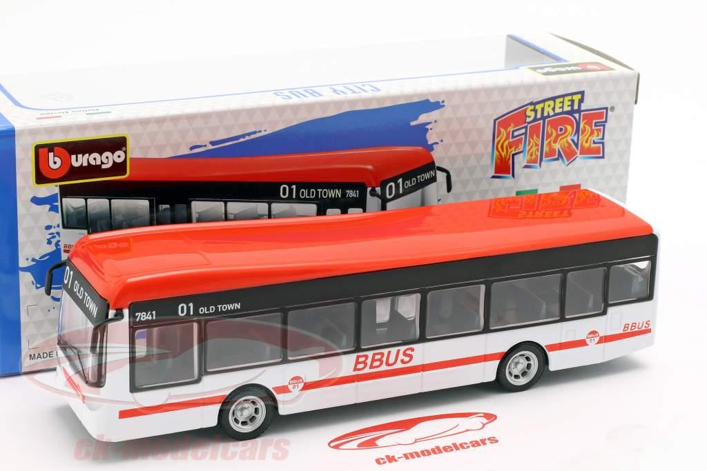 City Bus wit / rood / zwart 1:43 Bburago