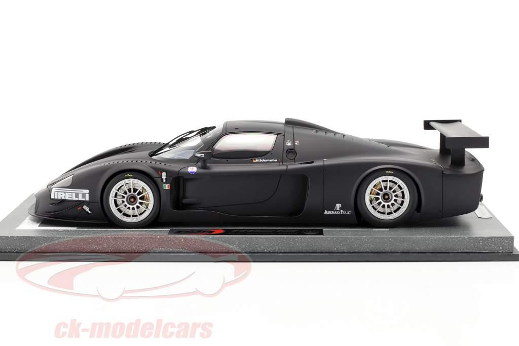 Maserati MC12 Competizione test Fiorano M. Schumacher 2004 met vitrine 1:18 BBR