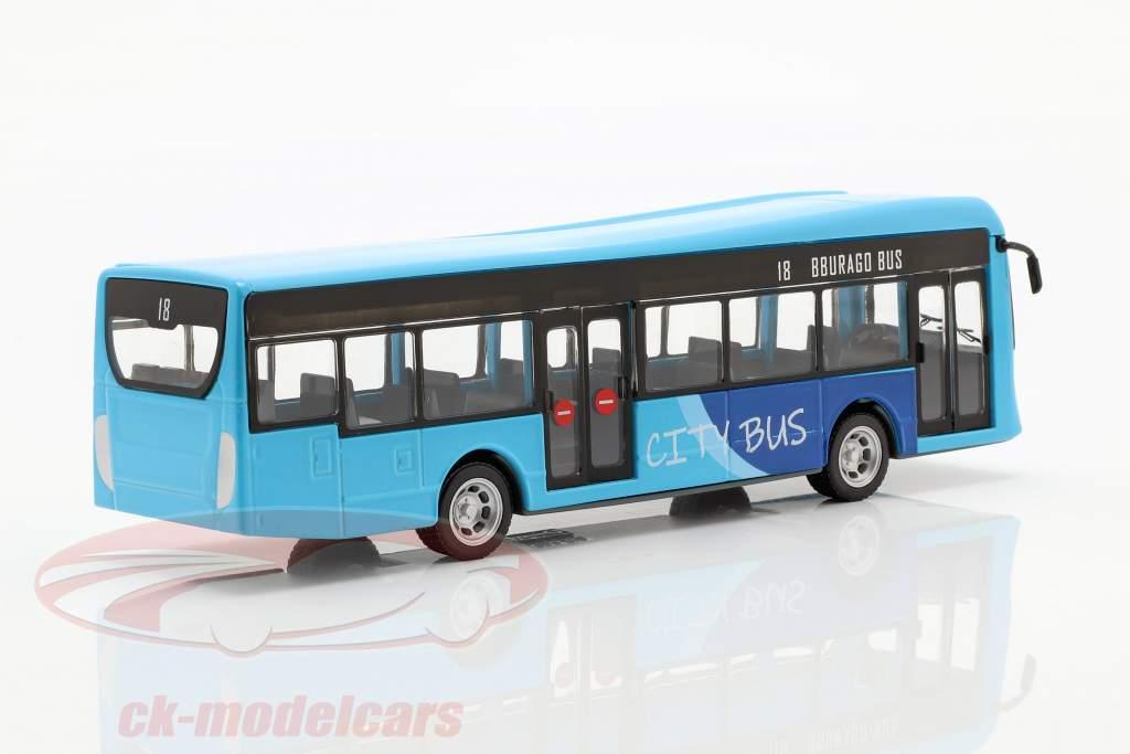 City Bus blue / black 1:43 Bburago