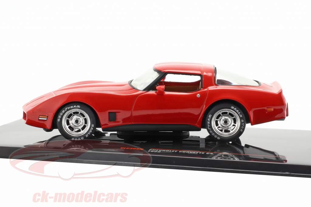 Chevrolet Corvette C3 Bouwjaar 1980 rood 1:43 Ixo