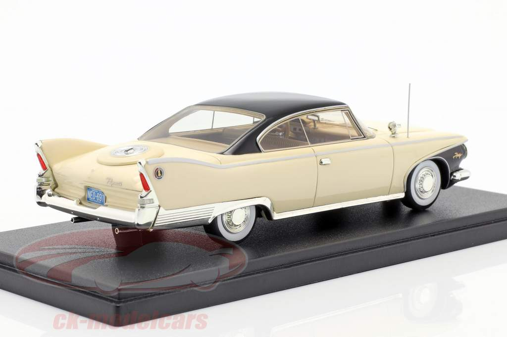 Plymouth Fury Coupe Bouwjaar 1960 lichtbeige 1:43 Neo