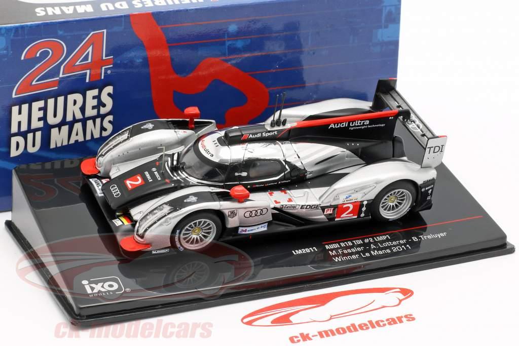 Audi R18 TDI #2 Vinder 24h LeMans 2011 Fässler, Lotterer, Treluyer 1:43 Ixo