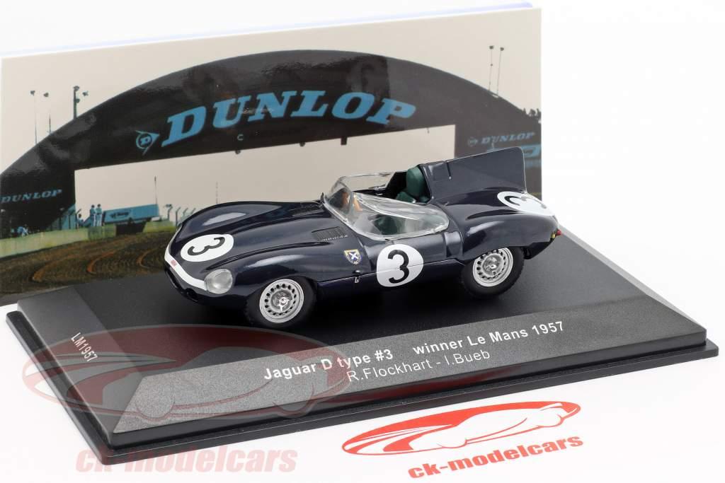 Jaguar D-type #3 gagnant 24h LeMans 1957 Flockhart / Bueb 1:43 Ixo