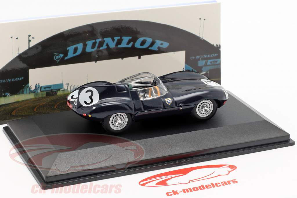 Jaguar D-type #3 winnaar 24h LeMans 1957 Flockhart / Bueb 1:43 Ixo