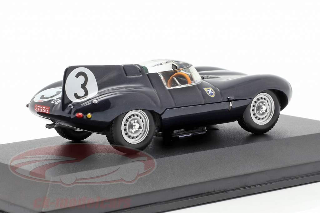 Jaguar D-type #3 ganador 24h LeMans 1957 Flockhart / Bueb 1:43 Ixo