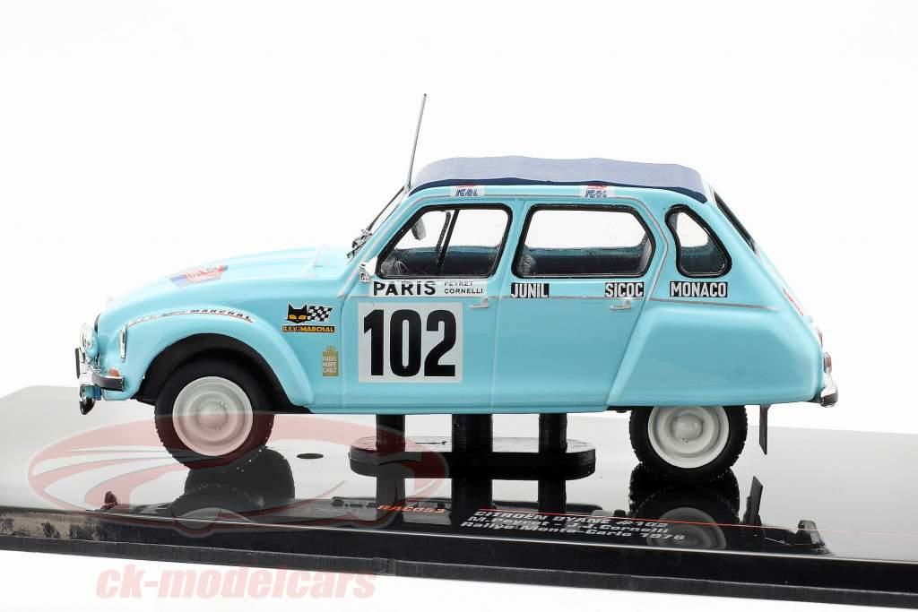 Citroen Dyane #102 Rallye Monte Carlo 1976 Peyret, Cornelli 1:43 Ixo